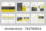 brochure creative design.... | Shutterstock .eps vector #763780816