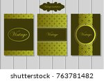 vintage invitation brochure | Shutterstock .eps vector #763781482