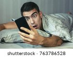 young frustrated and stressed...   Shutterstock . vector #763786528