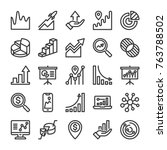 graph and diagram icons set.... | Shutterstock .eps vector #763788502