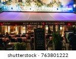 strasbourg  france   nov 21 ... | Shutterstock . vector #763801222