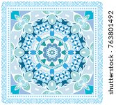 decorative geometric line... | Shutterstock .eps vector #763801492