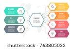 business infographics.... | Shutterstock .eps vector #763805032