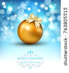 vector illustration for merry... | Shutterstock .eps vector #763805515