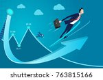 business man concept vector... | Shutterstock .eps vector #763815166