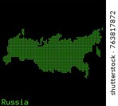 vector russia map dotted... | Shutterstock .eps vector #763817872