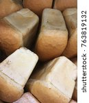 Small photo of square white bread. white bread from bakery
