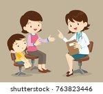 vector illustration of a mom... | Shutterstock .eps vector #763823446