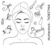 illustration on the theme of... | Shutterstock .eps vector #763827466