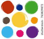 colorful sale tags in grunge... | Shutterstock .eps vector #763829872