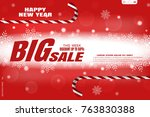 vector wide red poster for... | Shutterstock .eps vector #763830388