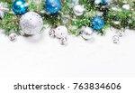 decorative background with fir... | Shutterstock . vector #763834606