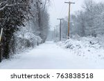 A Snow Covered Alley In West...