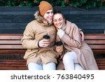 pretty fashion sensual stylish... | Shutterstock . vector #763840495