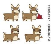 vector set of cute dog breed...   Shutterstock .eps vector #763840888