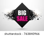 big sale abstract background.... | Shutterstock .eps vector #763840966