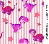 vector seamless cute graphical... | Shutterstock .eps vector #763845796