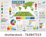soccer world infographic on... | Shutterstock .eps vector #763847515