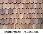 Old Wooden Roof Tiles Background