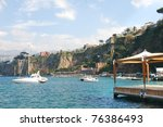 beautiful town sorrento  italy | Shutterstock . vector #76386493
