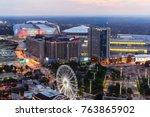 atlanta  georgia   united... | Shutterstock . vector #763865902
