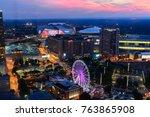 atlanta  georgia   united... | Shutterstock . vector #763865908