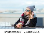 outdoors lifestyle fashion... | Shutterstock . vector #763869616