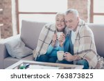 it is almost winter  so cold... | Shutterstock . vector #763873825