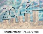 concept of financial goal for...   Shutterstock . vector #763879708