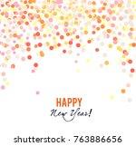 merry christmas  greeting...   Shutterstock .eps vector #763886656