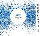 merry christmas  greeting...   Shutterstock .eps vector #763887022