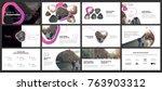 minimal presentation templates... | Shutterstock .eps vector #763903312