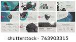 green gray presentation... | Shutterstock .eps vector #763903315