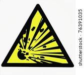 danger of the explosion ... | Shutterstock . vector #76391035