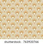 vintage art deco seamless... | Shutterstock .eps vector #763920766