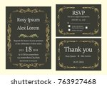 wedding invitation   save the... | Shutterstock .eps vector #763927468