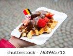 traditional belgian dessert  ...   Shutterstock . vector #763965712