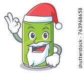 santa soft drink character...   Shutterstock .eps vector #763968658