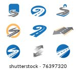 road. abstract element set of... | Shutterstock .eps vector #76397320