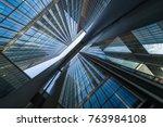 bottom view of modern... | Shutterstock . vector #763984108