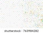 birthday foil confetti glitter...   Shutterstock .eps vector #763984282