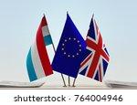 flags of luxembourg european...   Shutterstock . vector #764004946