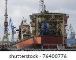 dock in hamburg | Shutterstock . vector #76400776