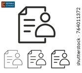 registration   outline icon on... | Shutterstock .eps vector #764011372