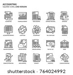 accounting  square icon set.... | Shutterstock .eps vector #764024992