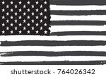 grunge flag of united states... | Shutterstock .eps vector #764026342
