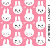 cute baby pattern with little...   Shutterstock .eps vector #764032045