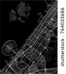black and white vector city map ... | Shutterstock .eps vector #764033686