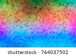 light multicolor  rainbow... | Shutterstock .eps vector #764037502