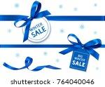 decorative horizontal blue... | Shutterstock .eps vector #764040046
